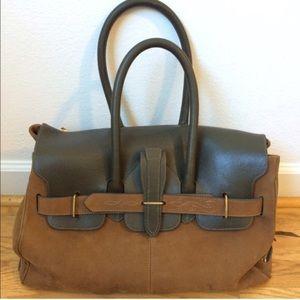 Golden Goose Suede Birkin style bag